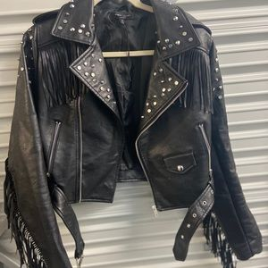 Romeo Juliet Fringe Leather jacket